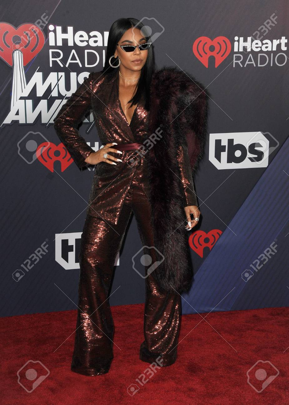Ashanti at the 2018 iHeartRadio Music Awards held at the Forum