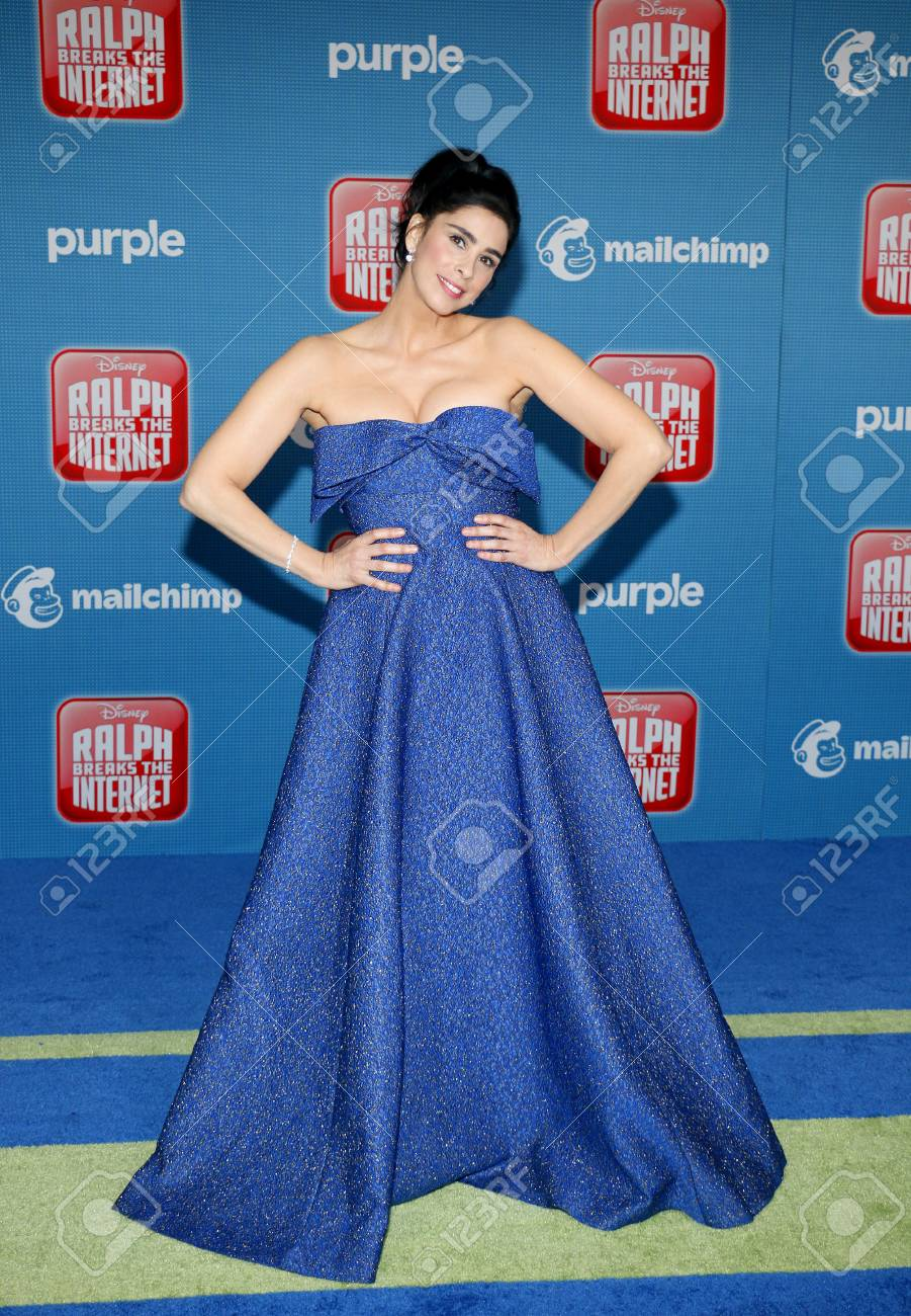 Sarah Silverman At The World Premiere Of Ralph Breaks The Internet Stock Photo Picture And Royalty Free Image Image 111251346