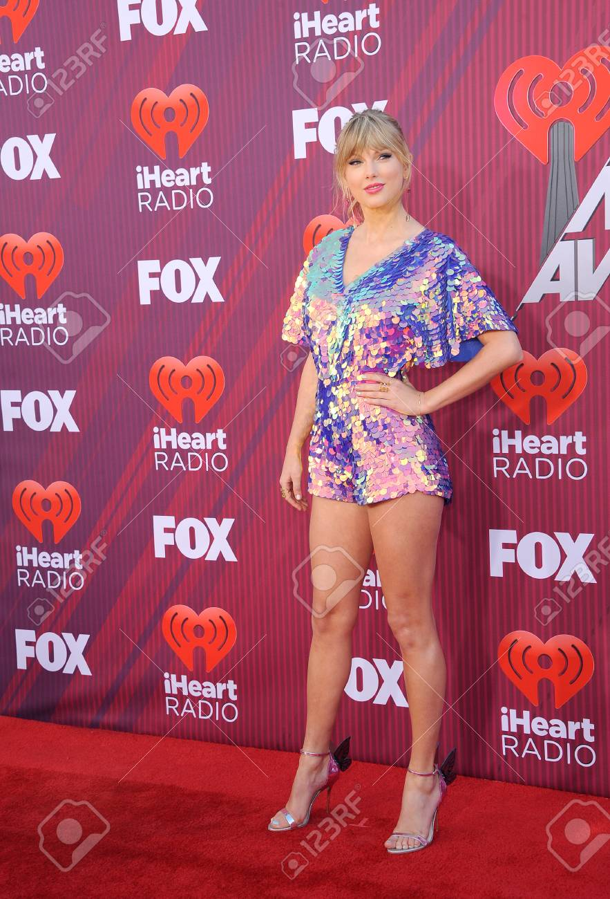 Taylor Swift at the 2019 iHeartRadio Music Awards held at the