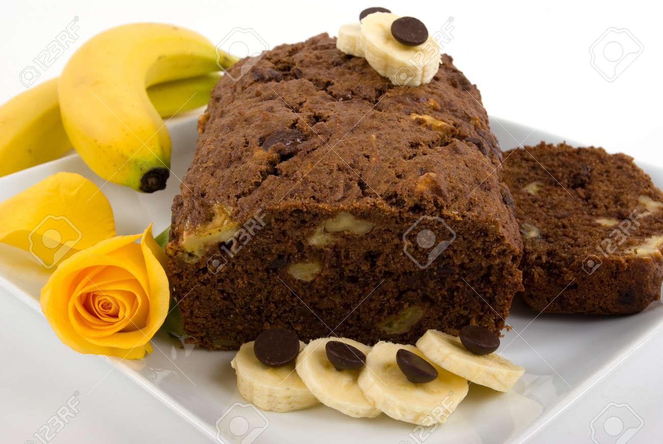 Schokolade Banane Nuss Kuchen Lizenzfreie Fotos Bilder Und Stock