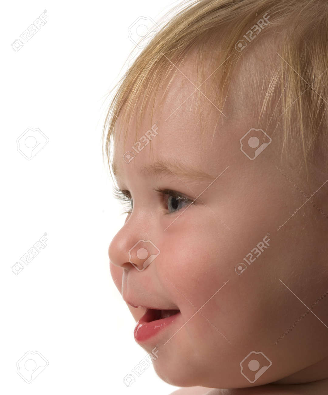 very cute baby boy with copy space stock photo, picture and royalty