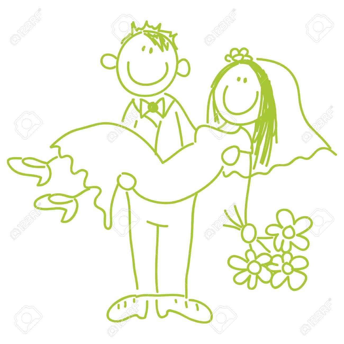 花嫁と新郎結婚式 イラストのイラスト素材ベクタ Image 5964507
