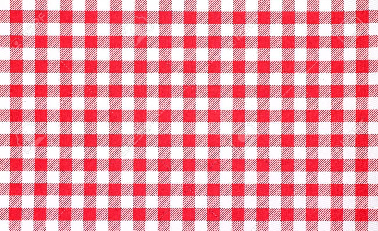 White Checkerboard Tablecloth. Stock