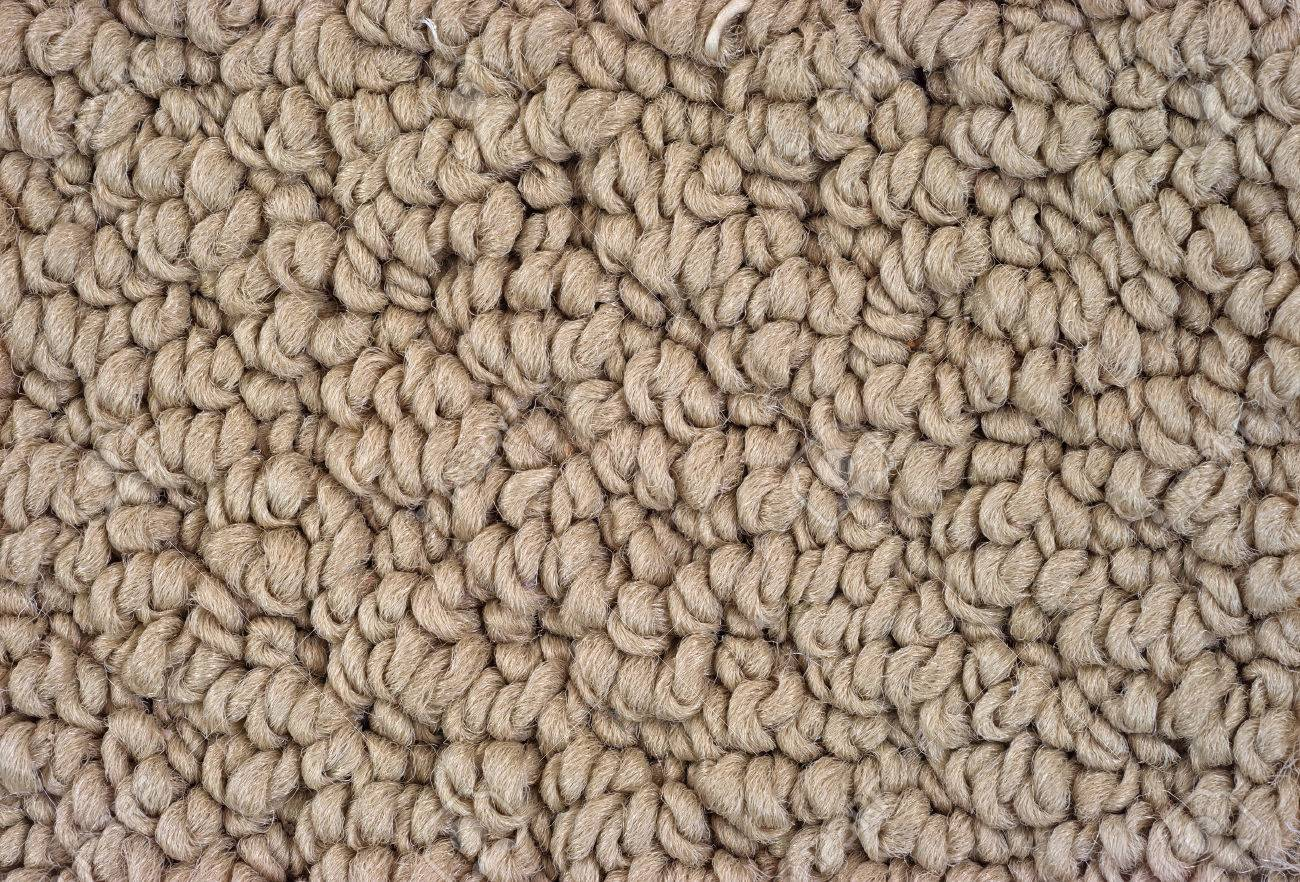 A very close view of tan braided carpeting. Stock Photo - 23467452