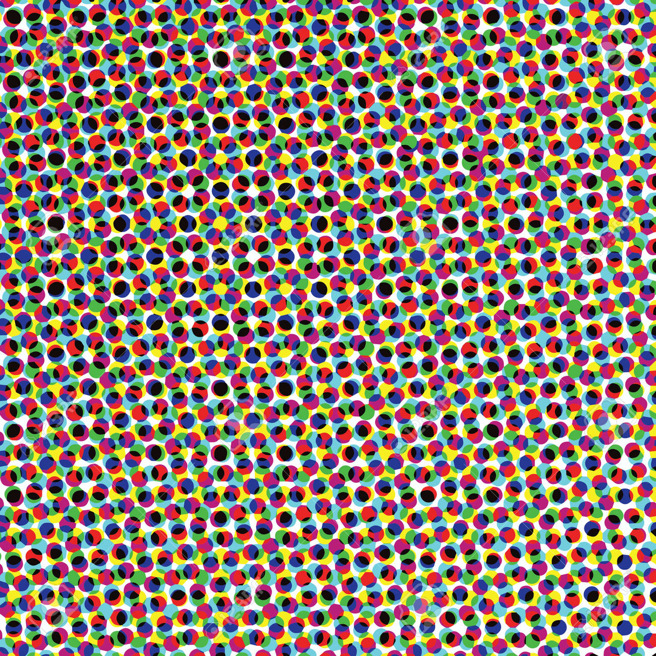 A close up af a color halftone image in vector. Looks like confetti. - 170063006