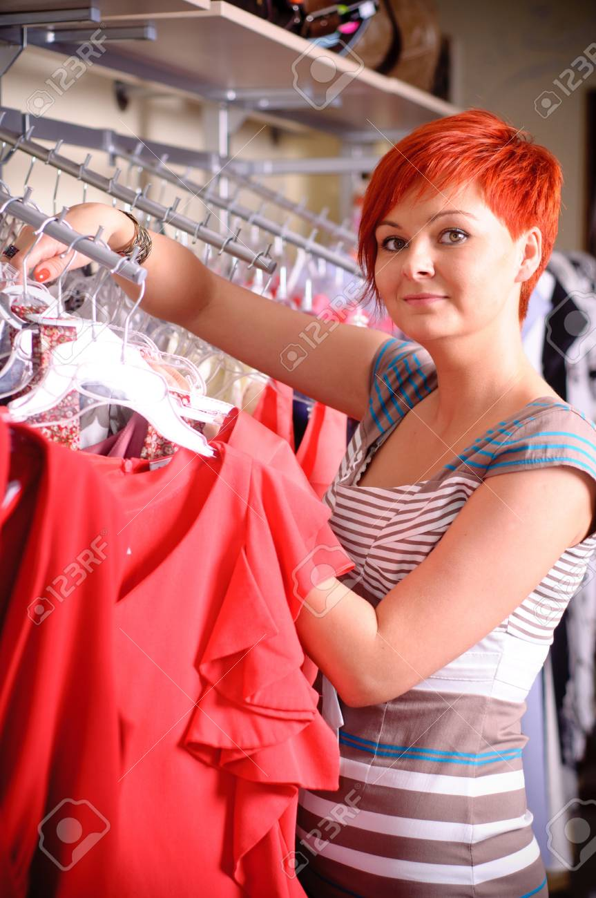 woman in clothing store Stock Photo - 17364814