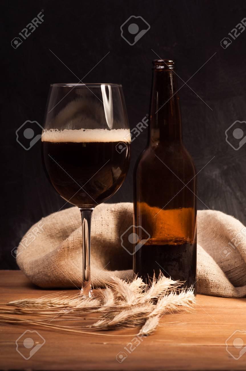 dark craft beer id the glass stock photo, picture and royalty freedark craft beer id the glass stock photo 31285091