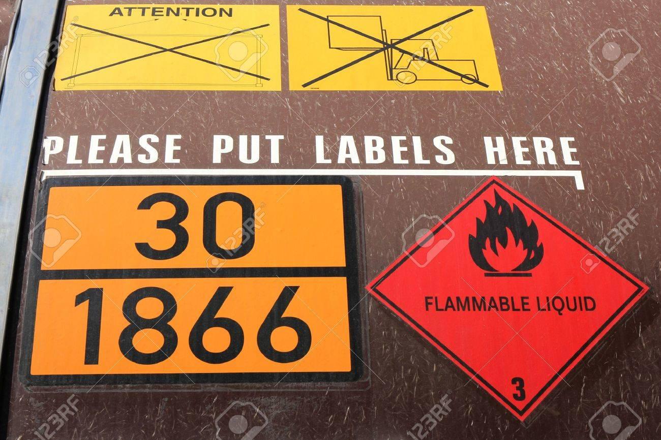 hazard identification labels - 51782898