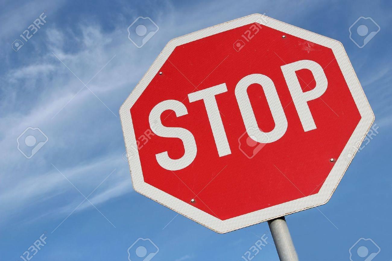 German road sign - stop - 51784427