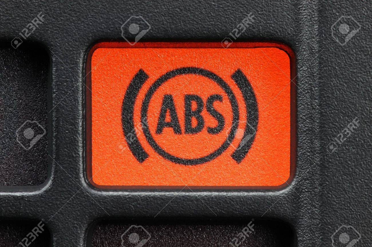 Abs Warning Light In Car Dashboard Stock Photo Picture And Royalty