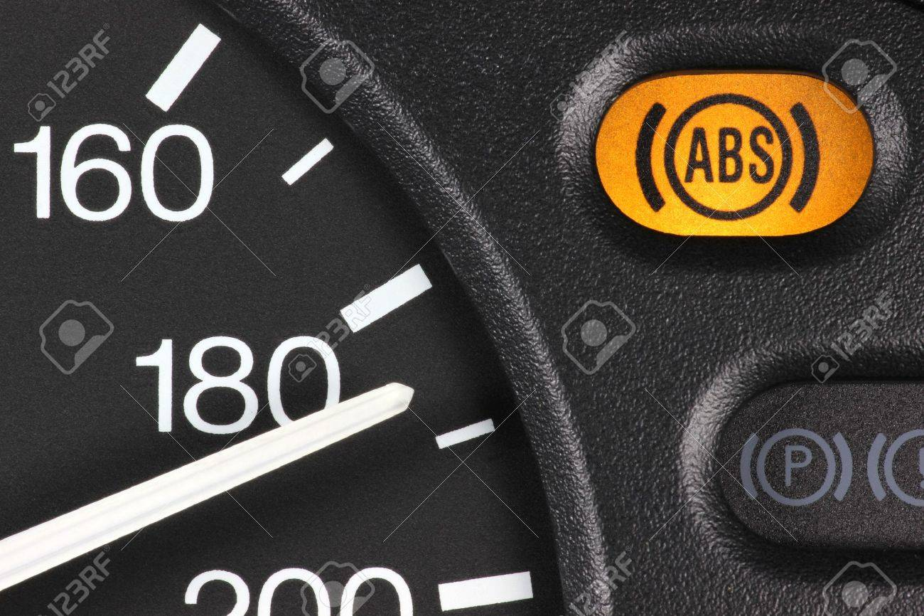 ABS Warning Light In Car Dashboard Stock Photo Picture And - Car image sign of dashboarddashboard warning lights stock images royaltyfree images