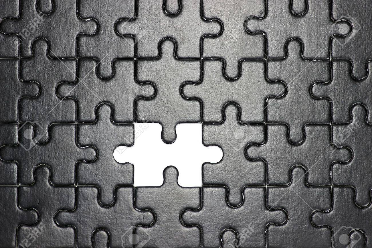 Missing Piece Of Jigsaw Puzzle Stock Photo