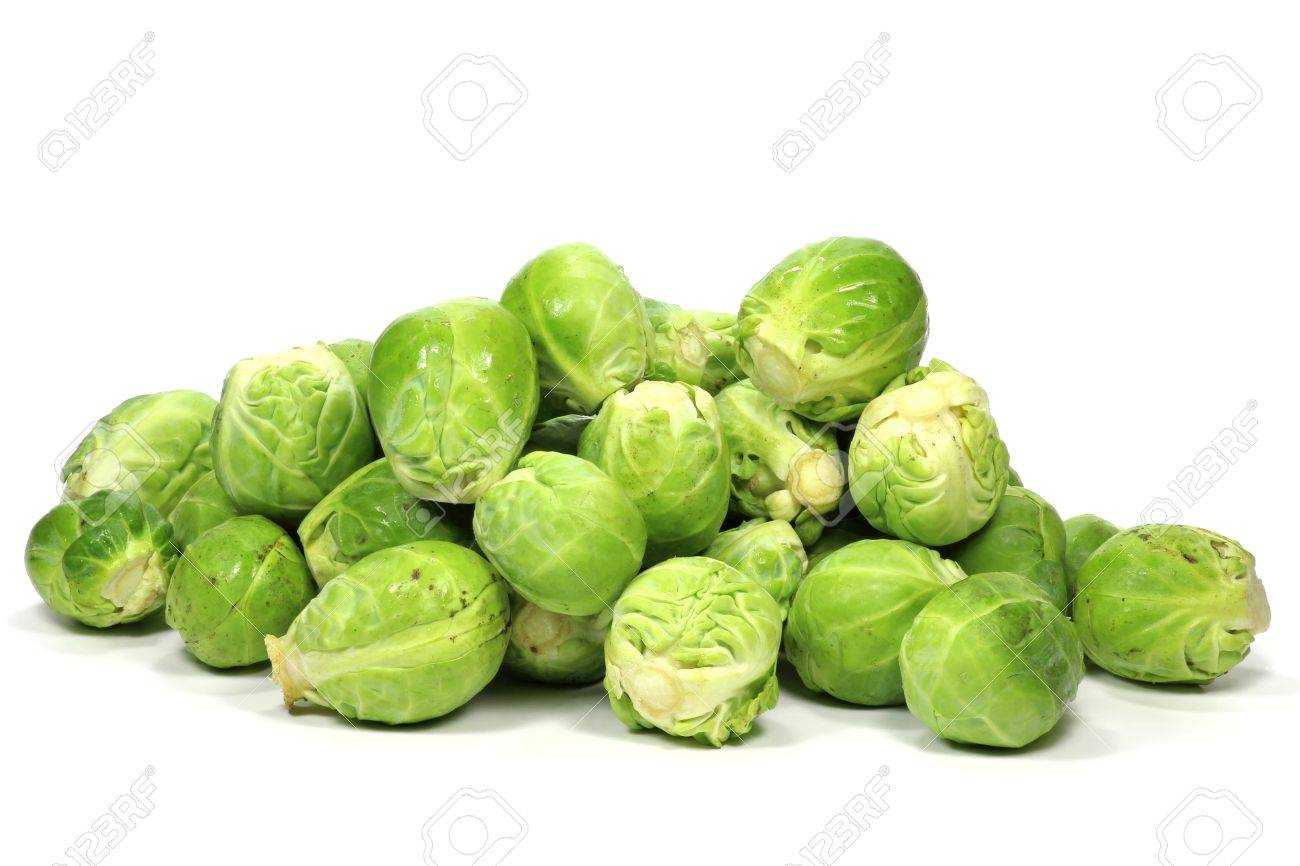 brussels sprouts isolated on white background - 53316427