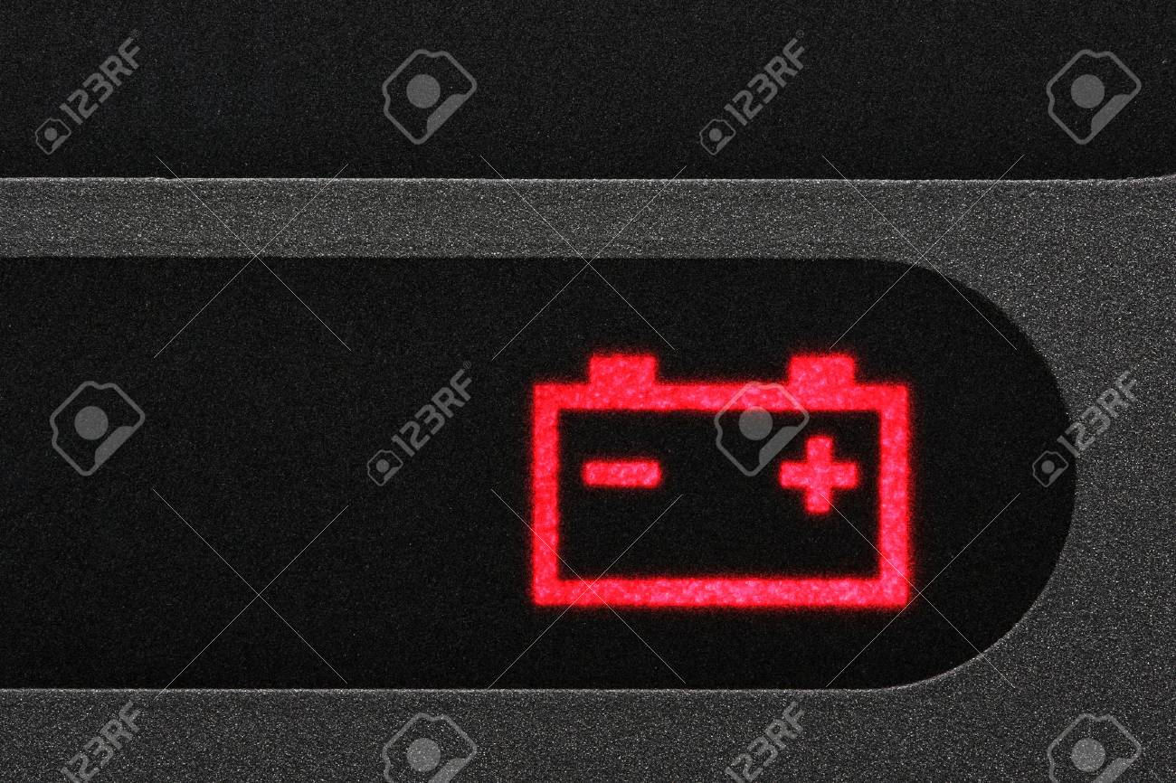 Battery Warning Light In Car Dashboard Stock Photo Picture And - Car image sign of dashboarddashboard warning lights stock images royaltyfree images