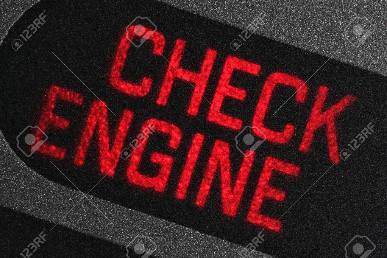 check engine warning light in car dashboard - 67862465