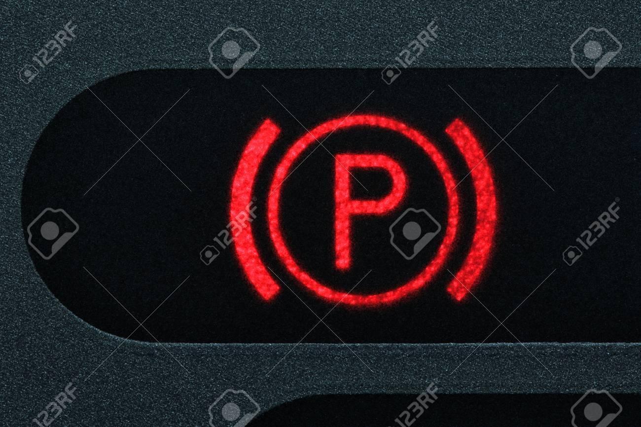 parking brake control light in car dashboard