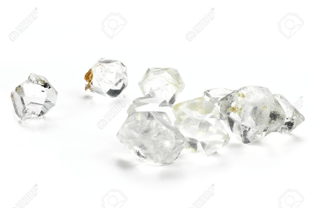 Herkimer diamonds isolated on white background - 71015715