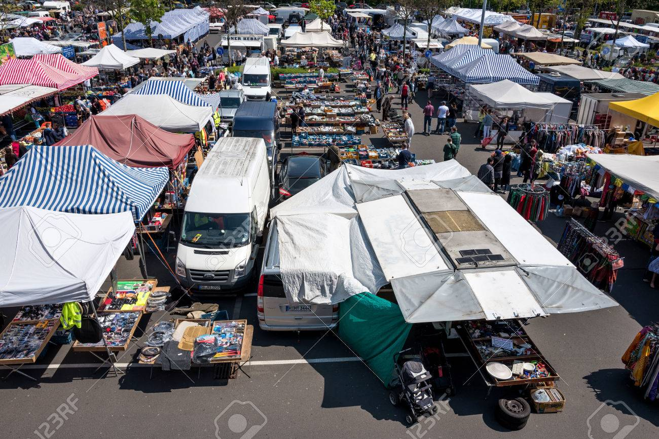 Flea Market At Ikea In Cologne Godorf Germany Stock Photo Picture