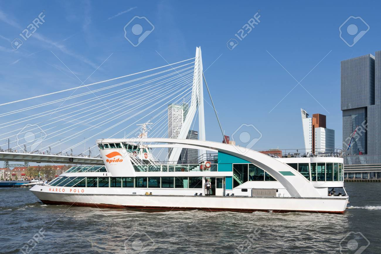 sale Top Design schnell verkaufend excursion boat MARCO POLO of Spido on the river Nieuwe Maas in..