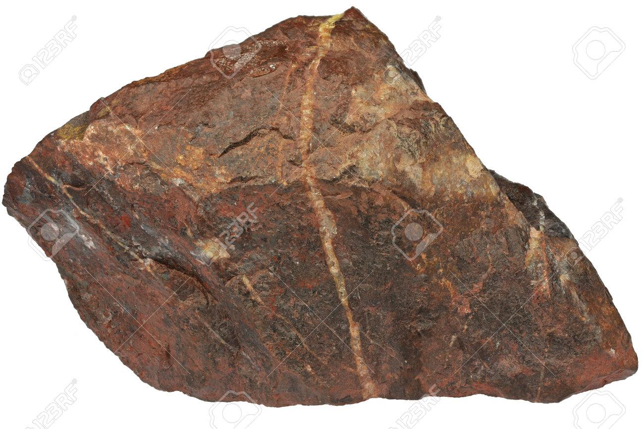bloodstone from Wabana, Canada isolated on white background - 170982678