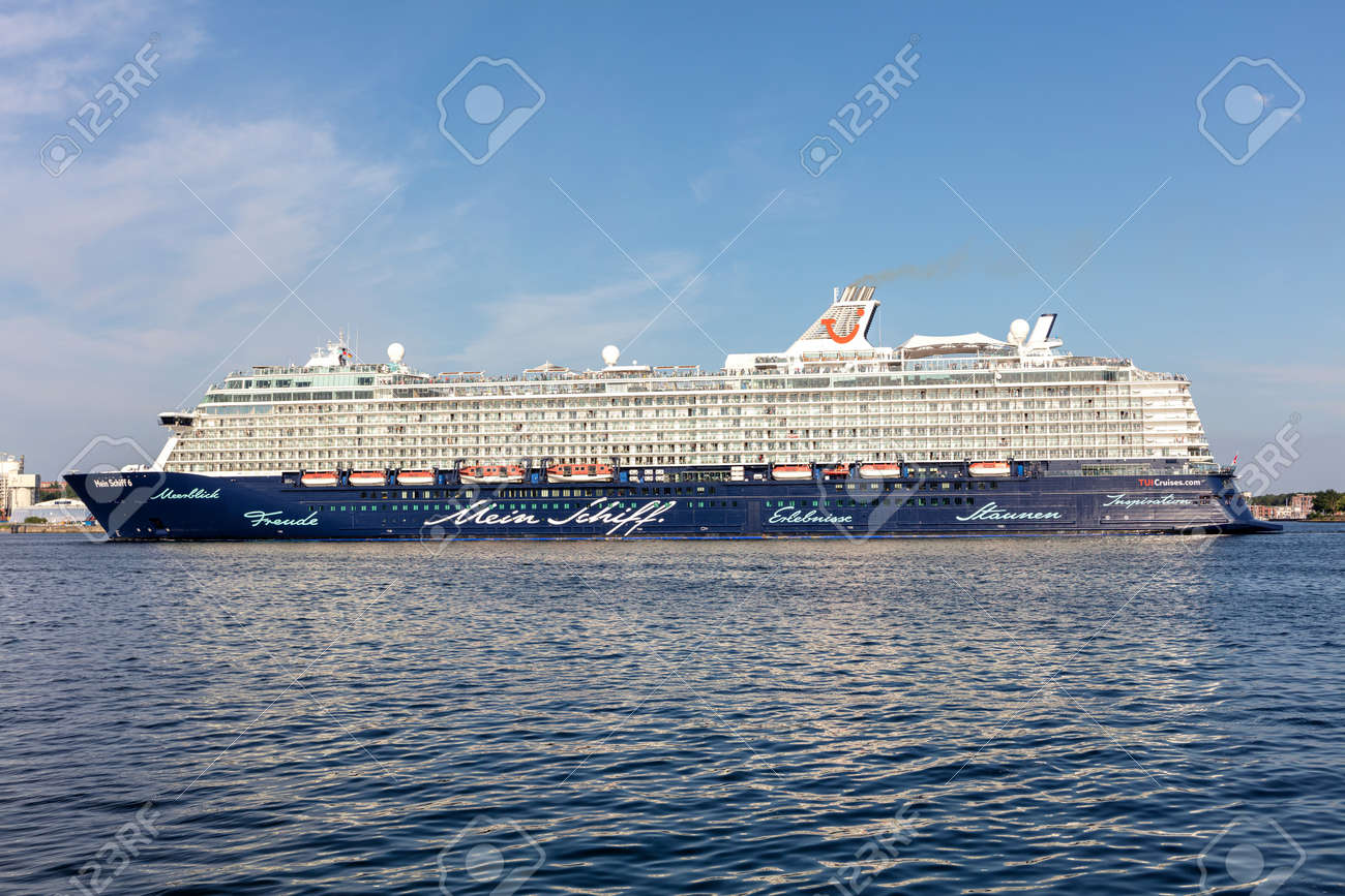 TUI cruise ship Mein Schiff 6 in the Kiel Fjord - 171122509