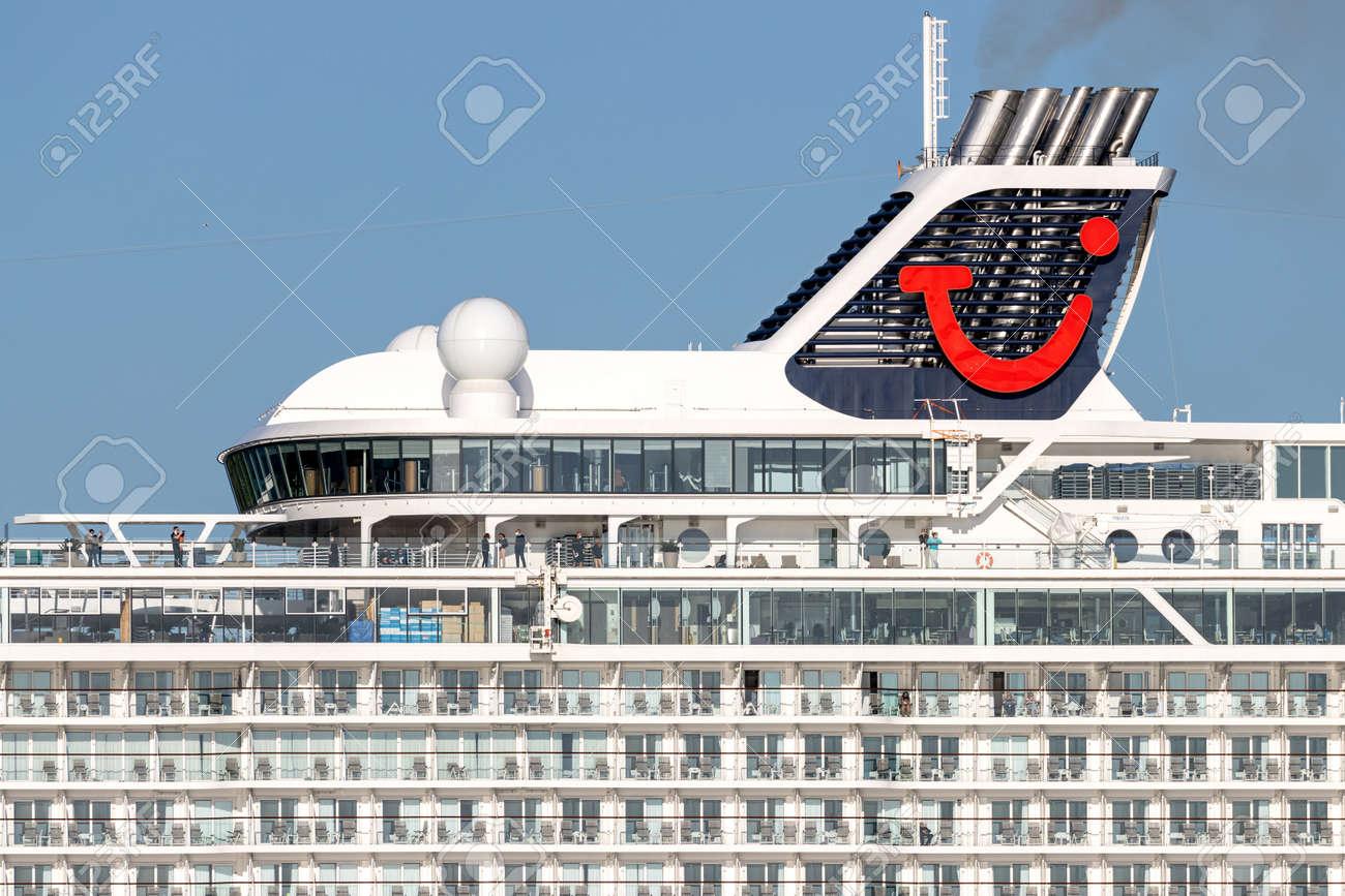 TUI cruise ship Mein Schiff 1 in the Kiel Fjord - 171121606