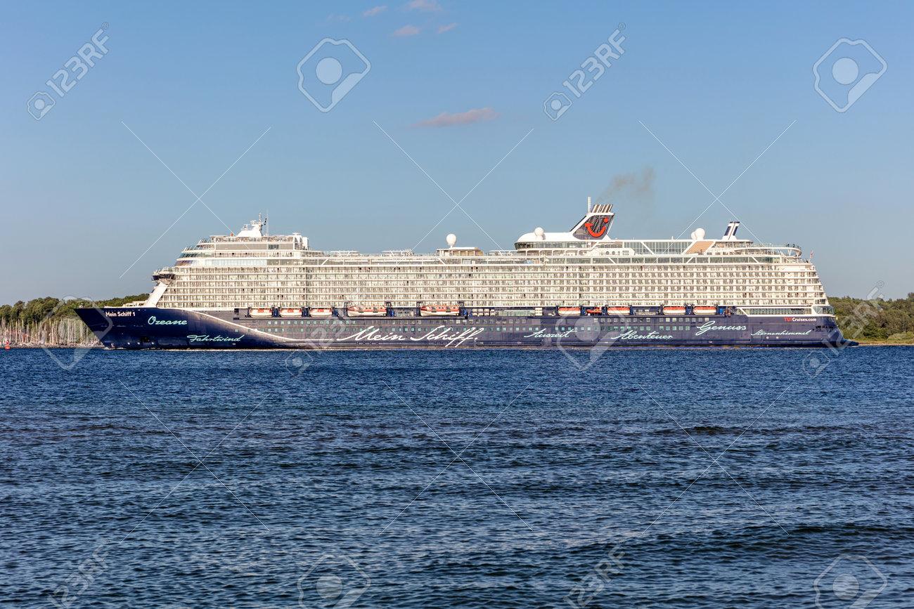 TUI cruise ship Mein Schiff 1 in the Kiel Fjord - 171332487