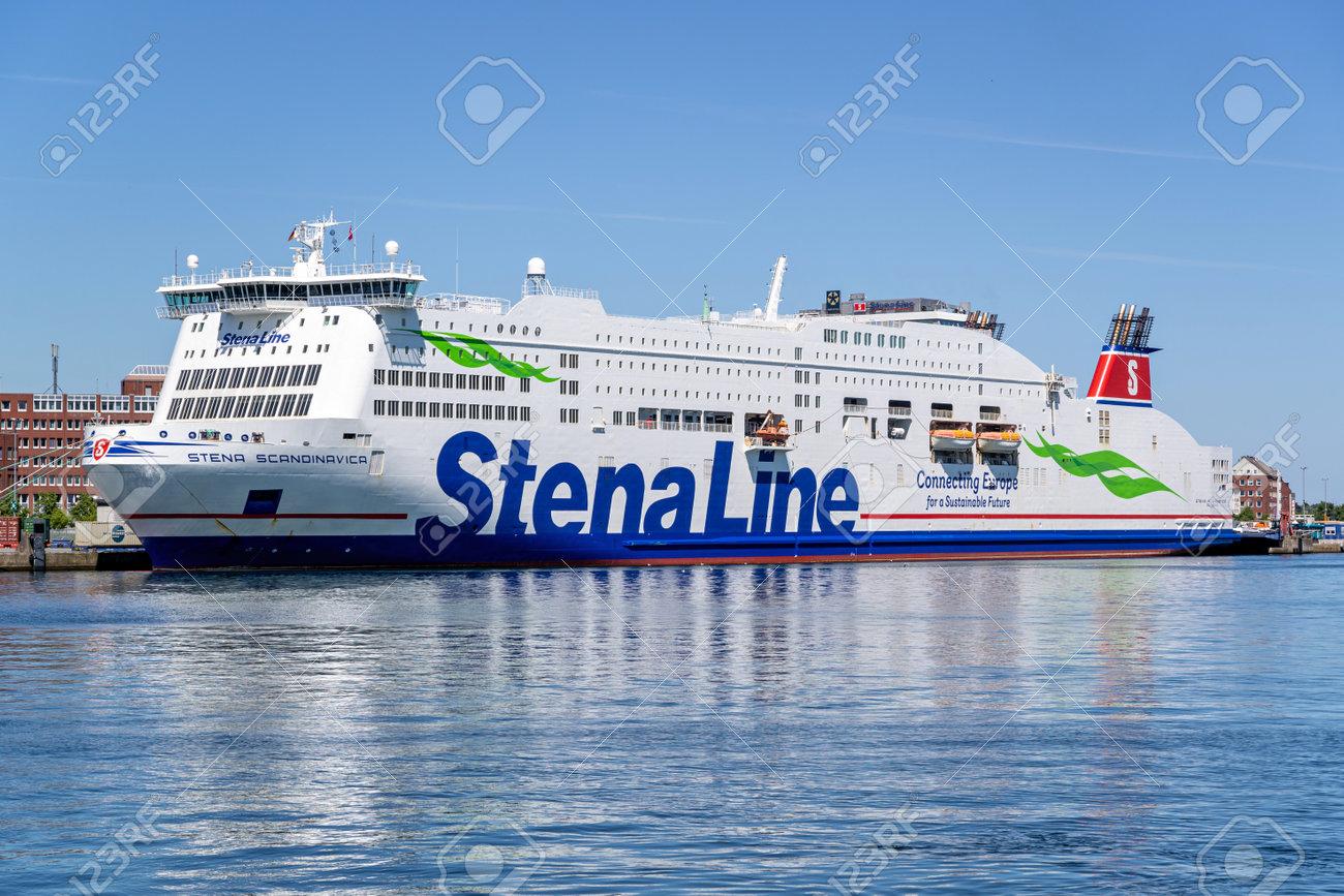 Stena Line ferry STENA SCANDINAVICA in the port of Kiel - 171122510
