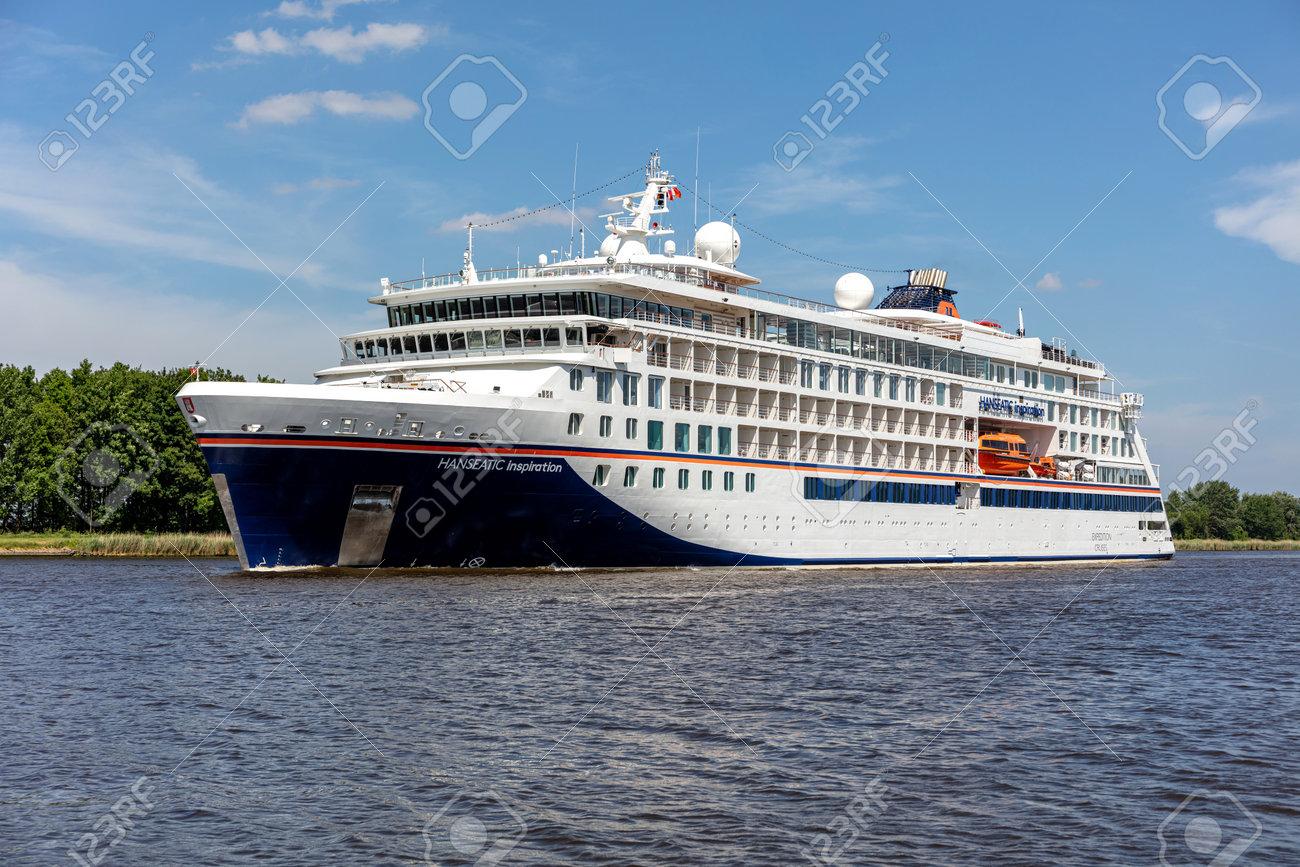 Hapag-Lloyd cruise ship HANSEATIC INSPIRATION in the Kiel Canal - 171332627