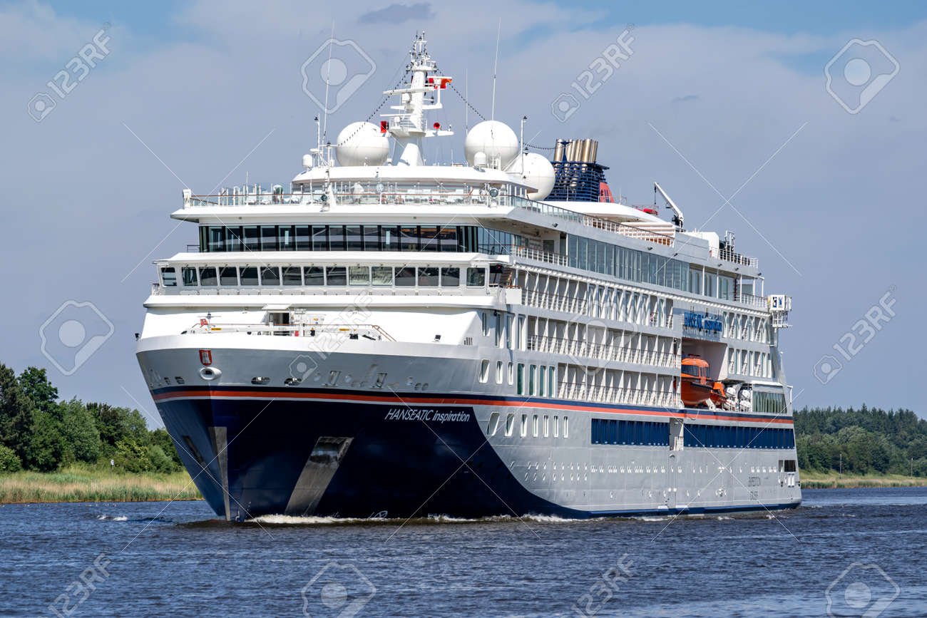 Hapag-Lloyd cruise ship HANSEATIC INSPIRATION in the Kiel Canal - 171332895