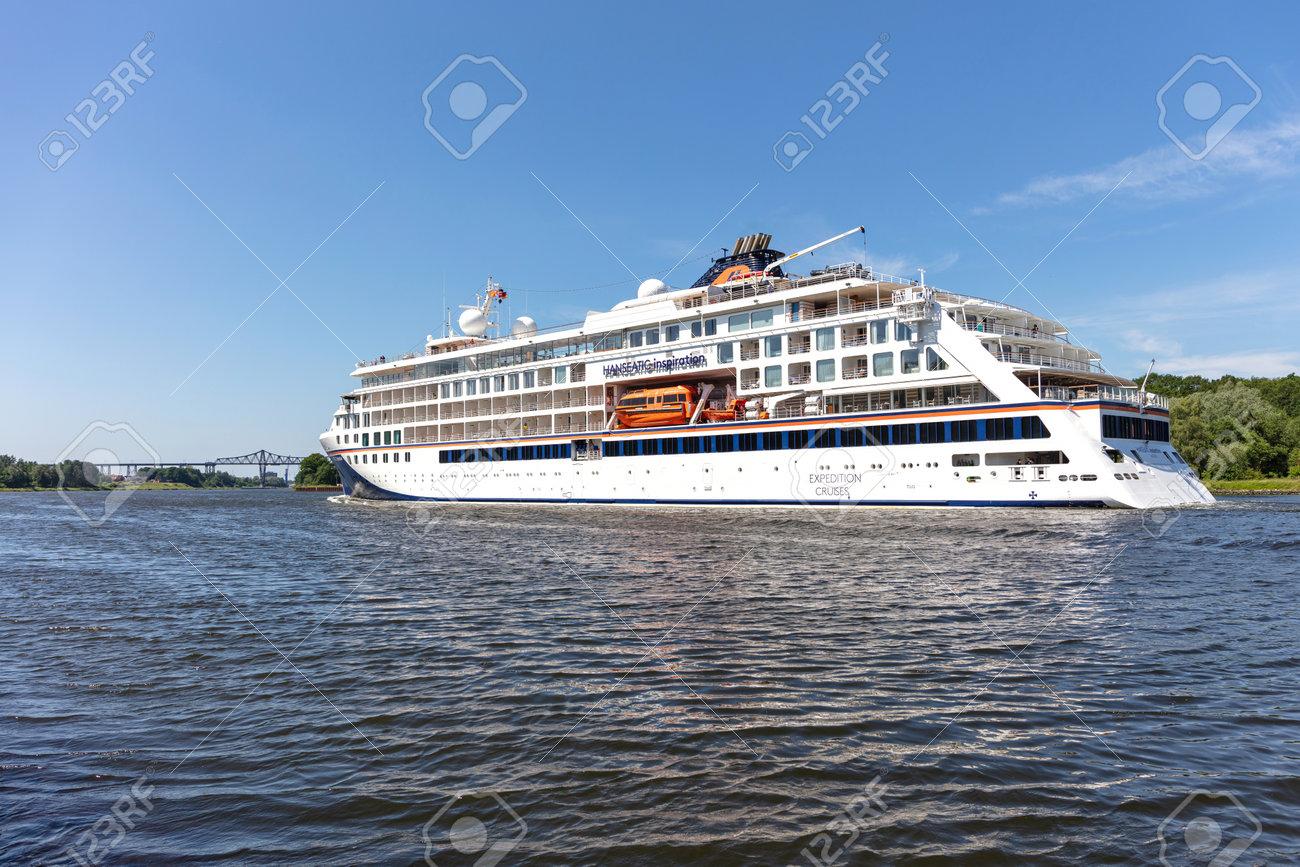 Hapag-Lloyd cruise ship HANSEATIC INSPIRATION in the Kiel Canal - 171332628