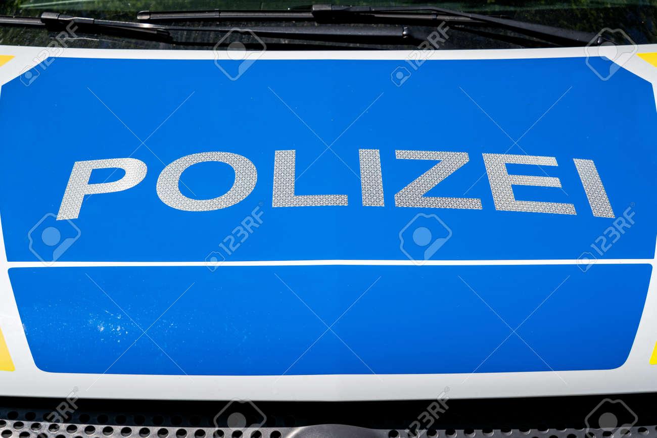 lettering at patrol car of German Police - 171717081