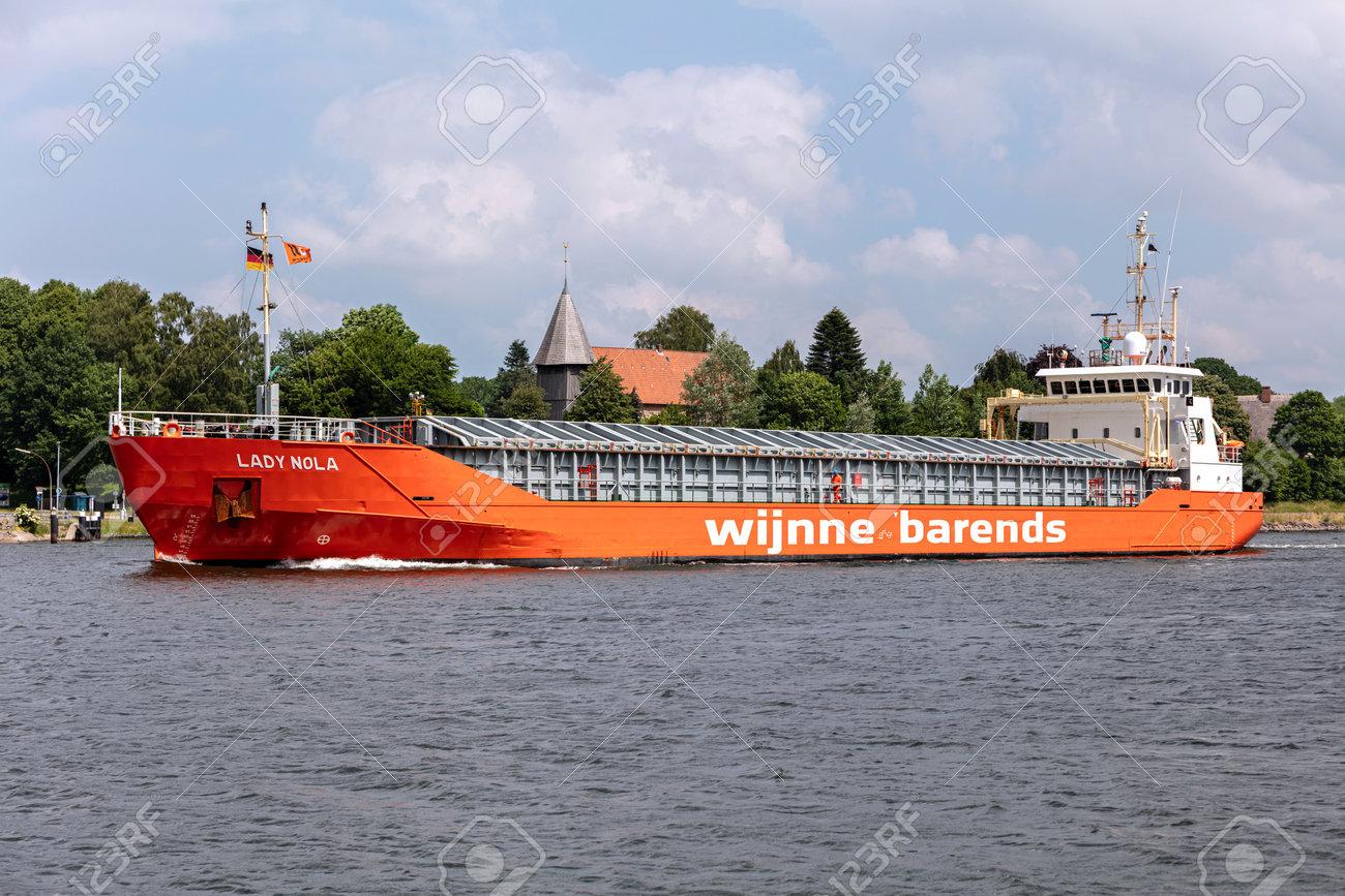 Wijnne Barends general cargo ship LADY NOLA in the Kiel Canal - 172059550
