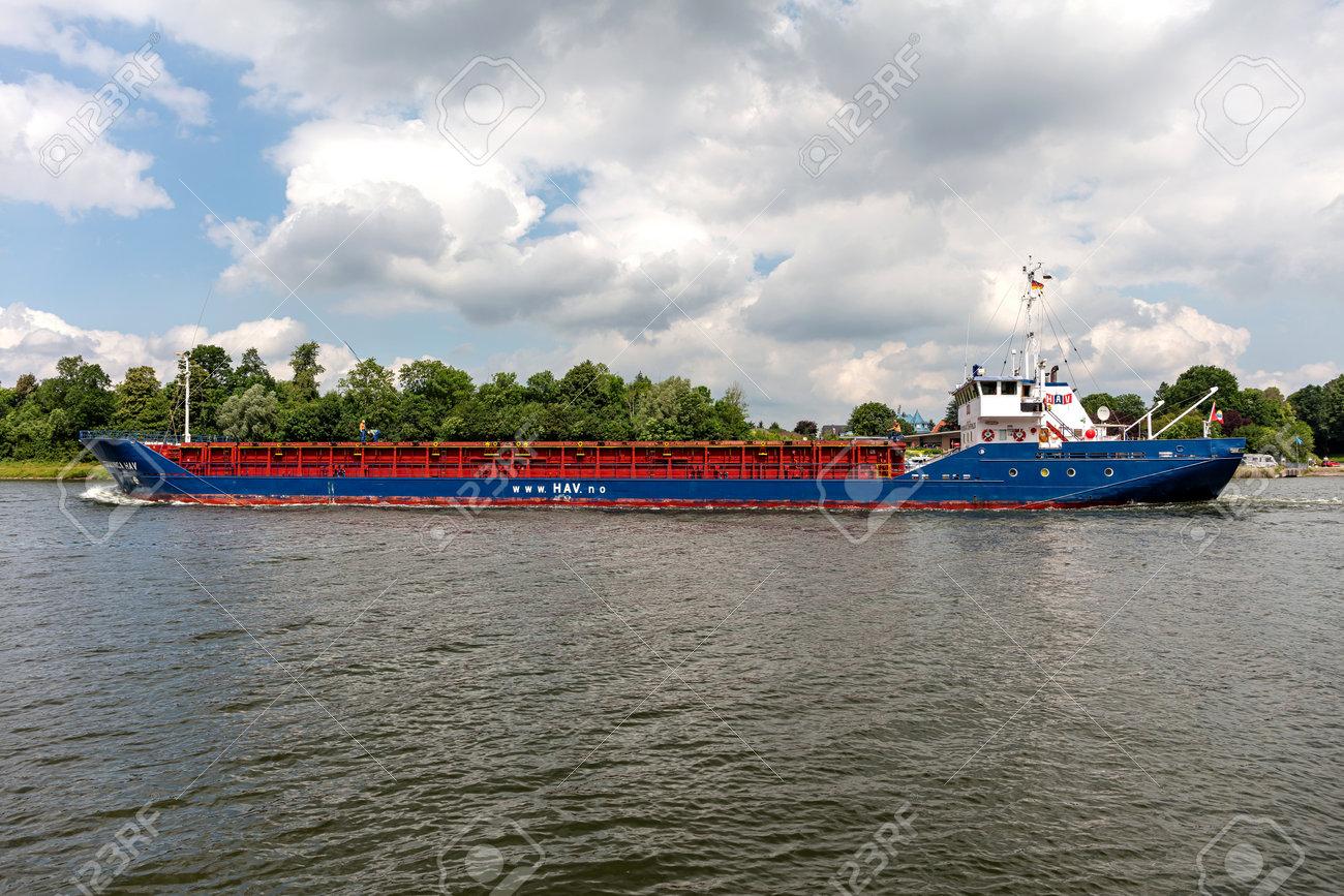 general cargo vessel GERMANICA HAV in the Kiel Canal - 172232099