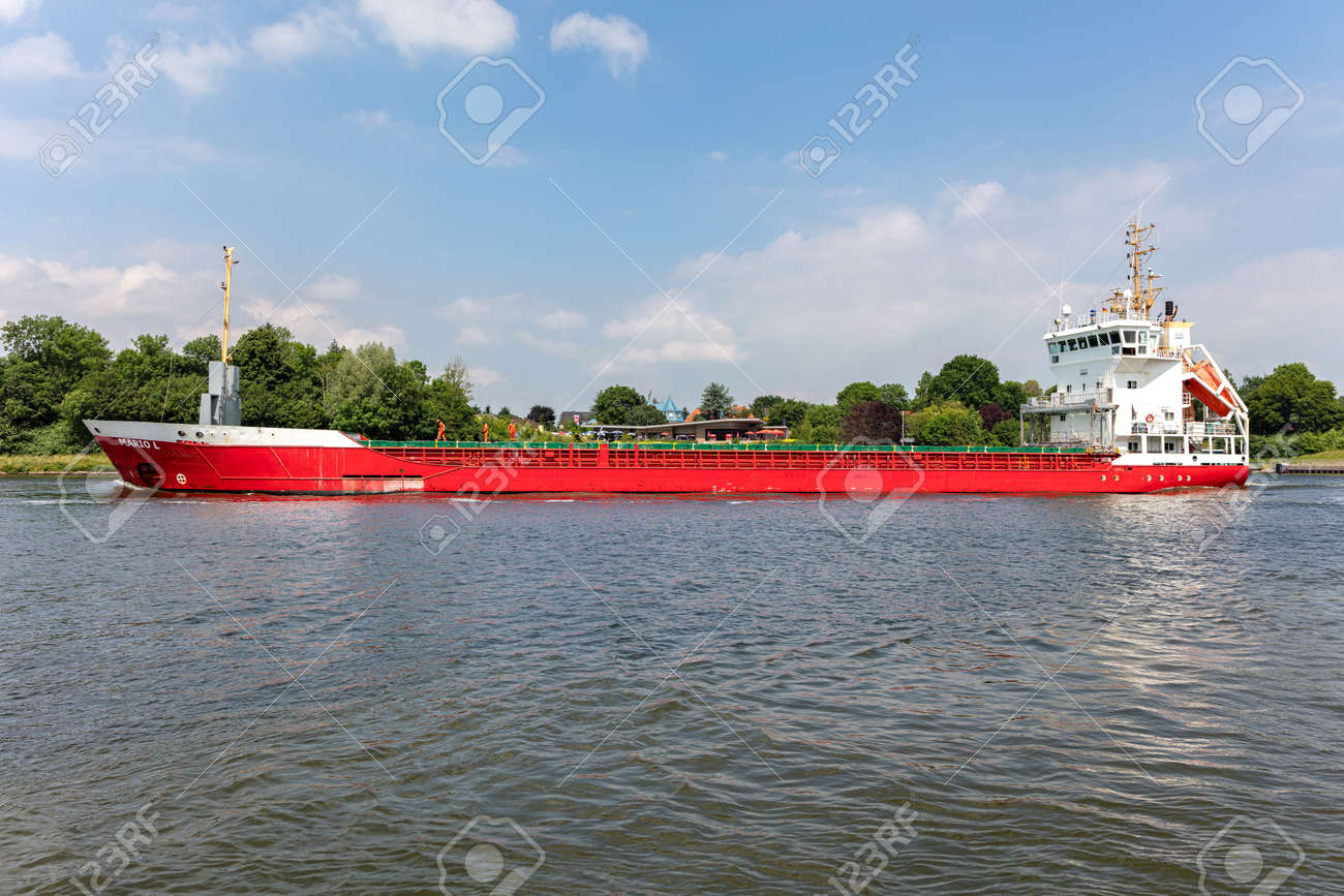 general cargo vessel MARIO L in the Kiel Canal - 172059551