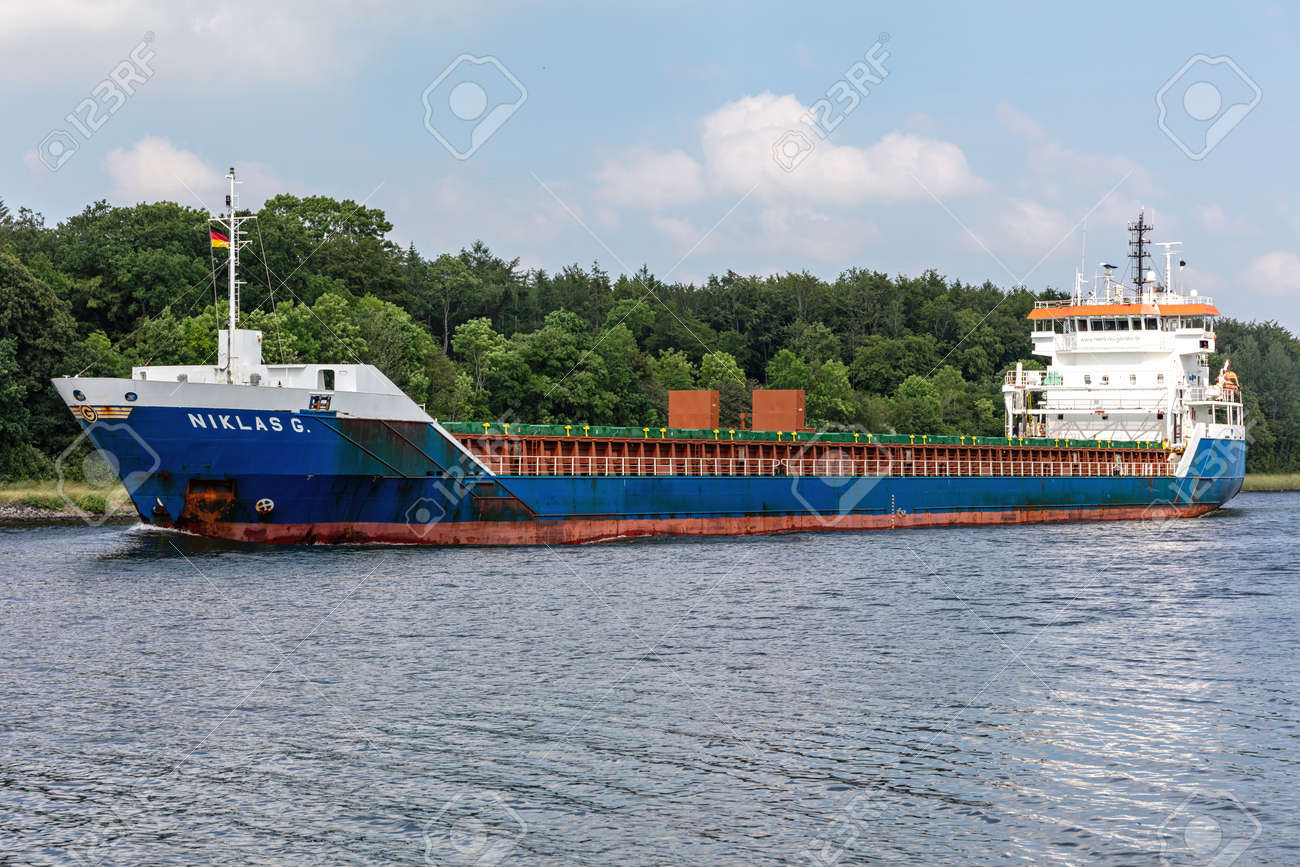 general cargo vessel NIKLAS G. in the Kiel Canal - 172059552
