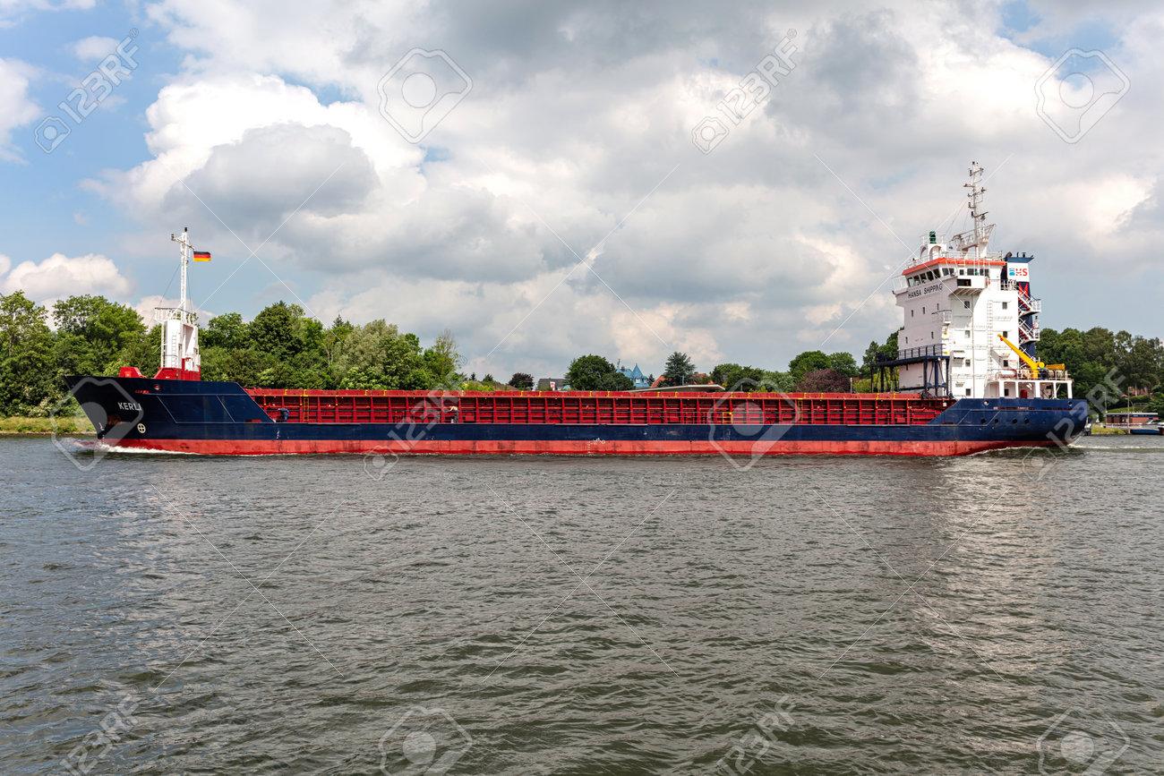 Hansa Shipping general cargo vessel KERLI in the Kiel Canal - 172059549