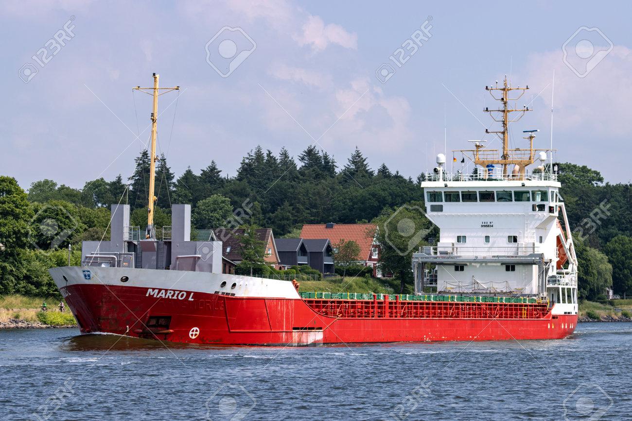 general cargo vessel MARIO L in the Kiel Canal - 172232100