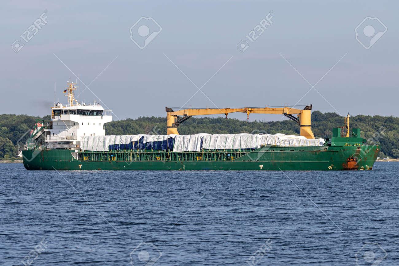 general cargo vessel in the Kiel Fjord - 172124274