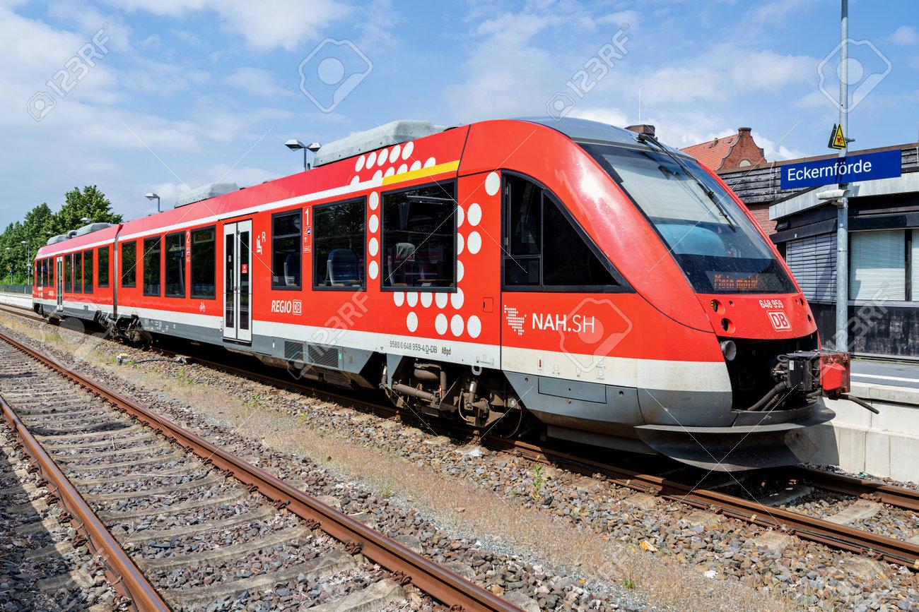 DB Regio Alstom Coradia LINT 41 train at Eckernförde station - 172291394