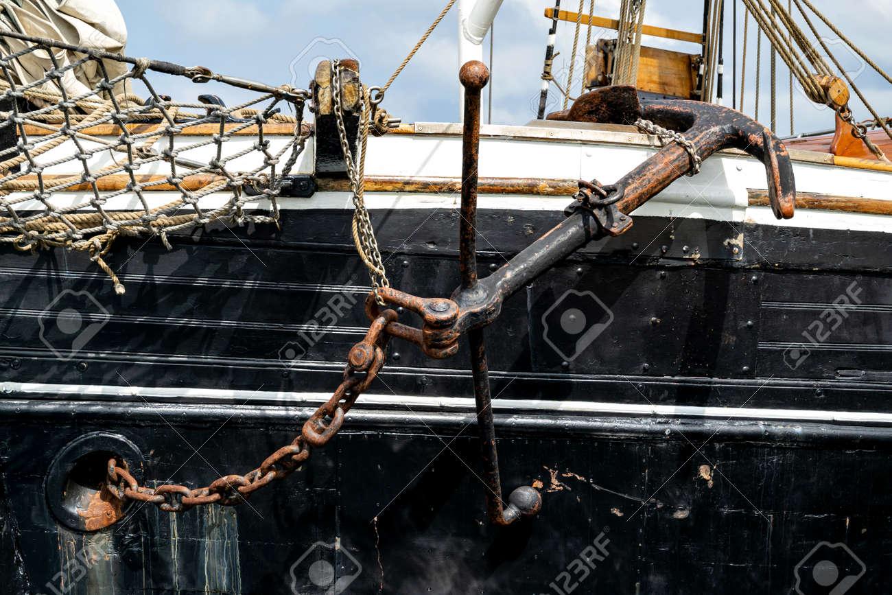 anchor of a tall ship - 172227026