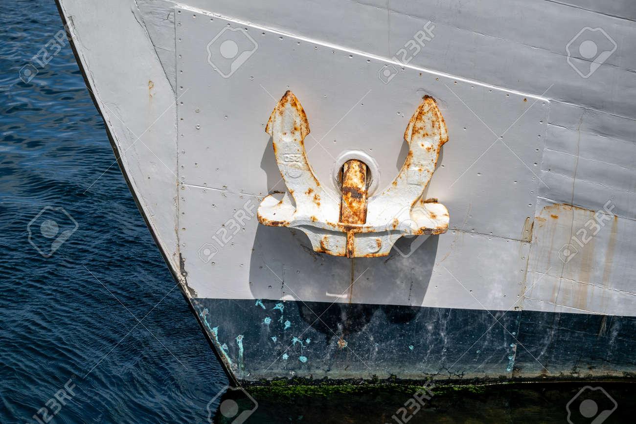 anchor of an oceangoing ship - 172227016