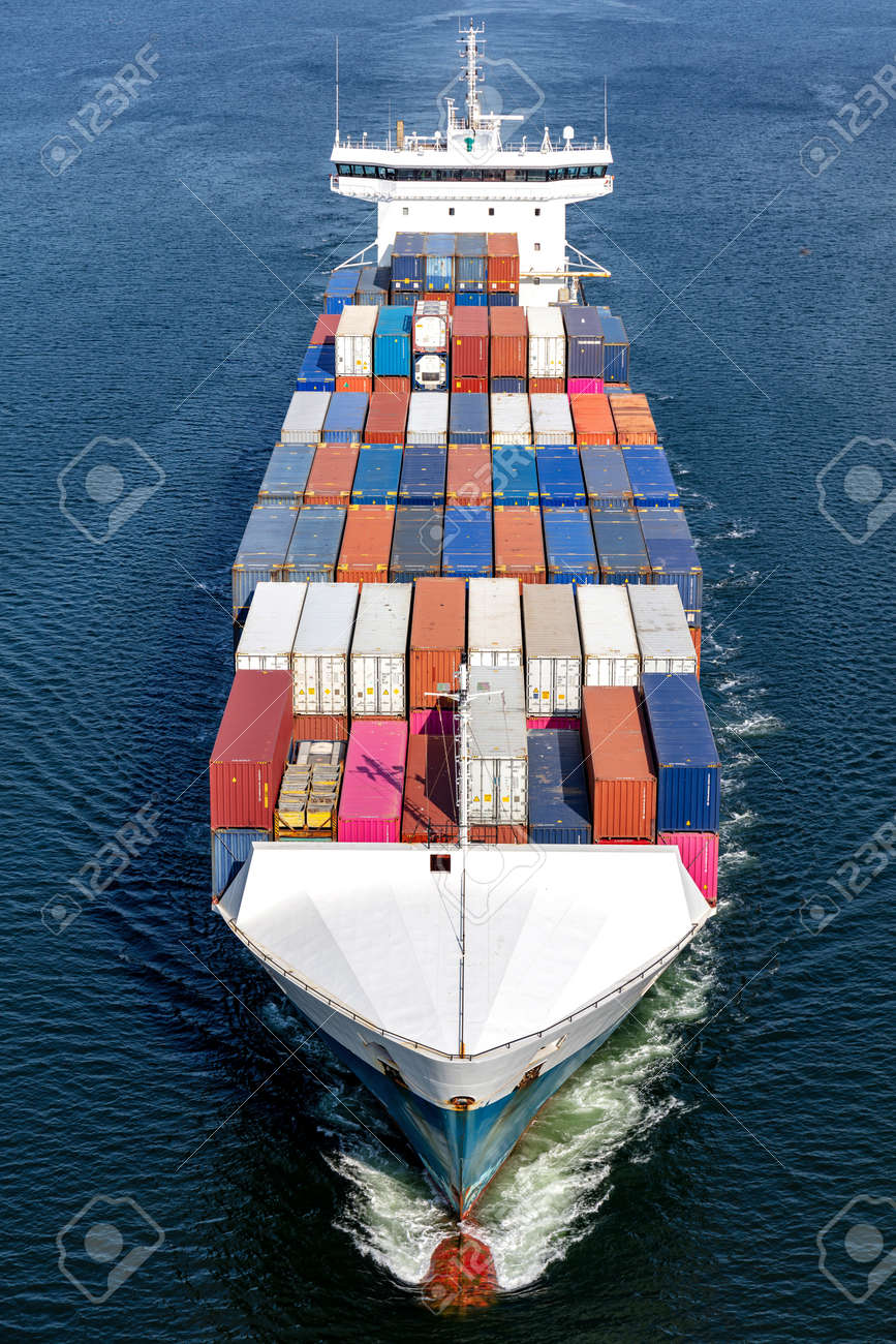 container ship in the Kiel Canal - 172231237