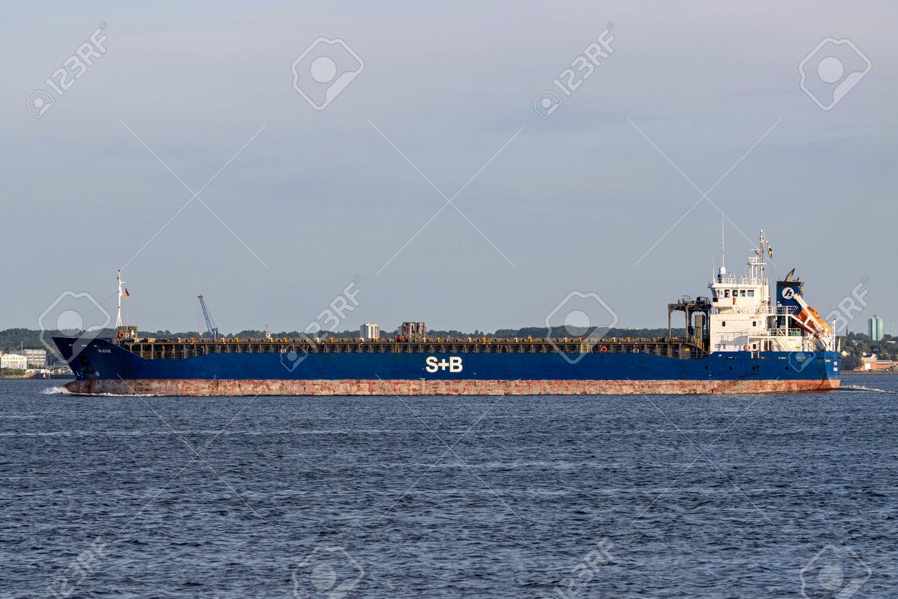 general cargo vessel BLIDOE in the Kiel Fjord - 172291398