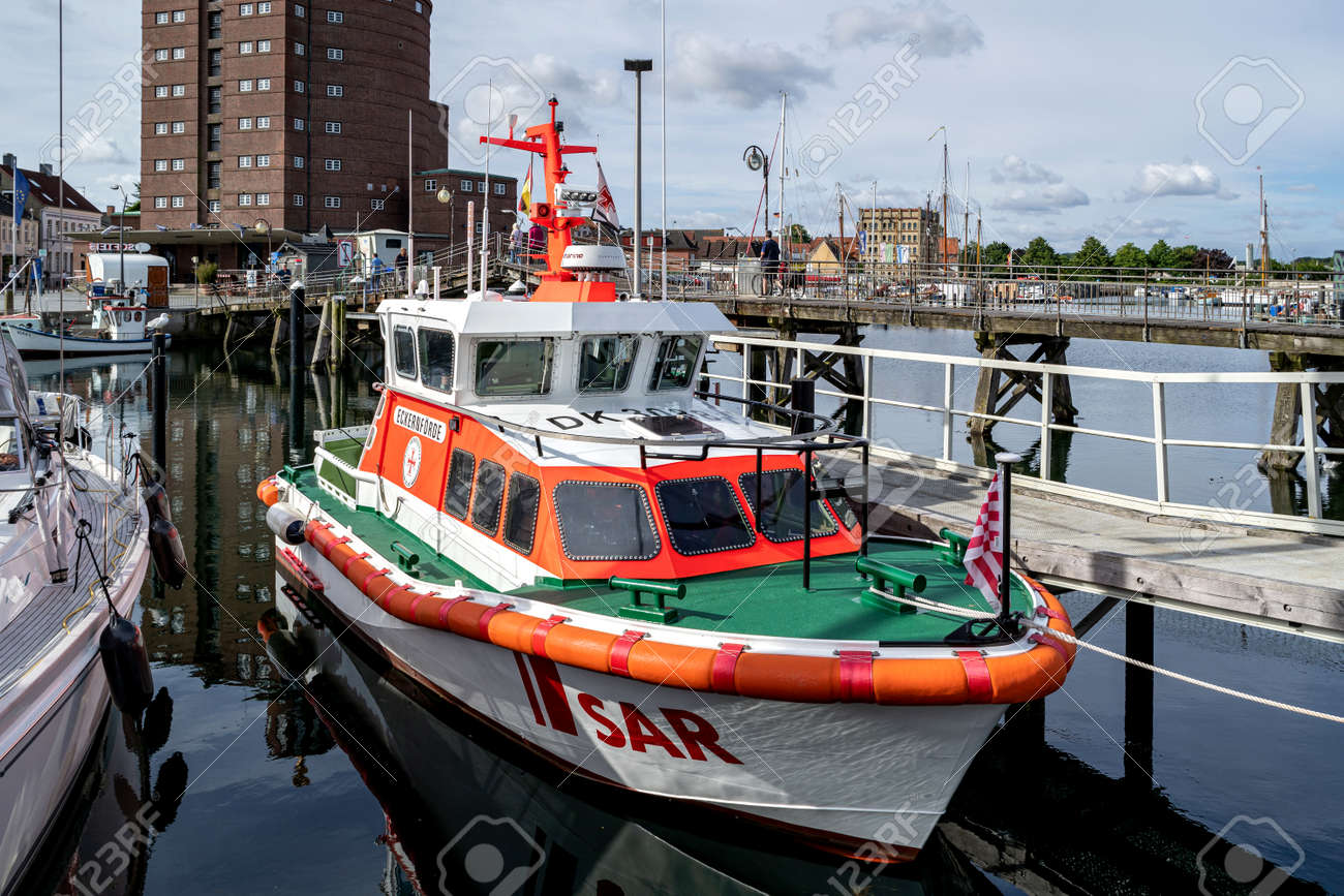 DGzRS SAR lifeboat ECKERNFÖRDE in the port of Eckernförde - 172418137