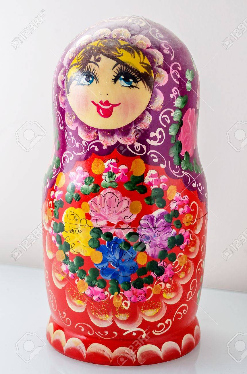 traditional russian matrioska vintage toy doll from russian traditional russian matrioska vintage toy doll from russian culture stock photo 17301877