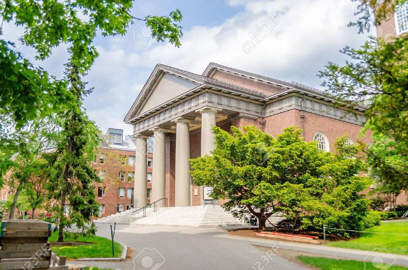 Eglise du Souvenir à l'intérieur du campus universitaire de Harvard, Cambridge Banque d'images - 20827252