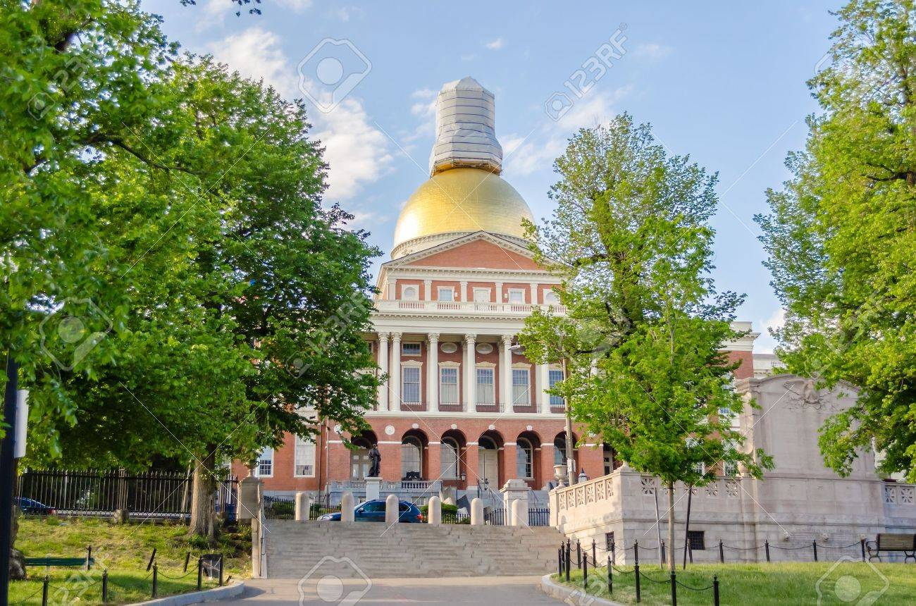 Massachusetts State House, Boston, USA Banque d'images - 20827353