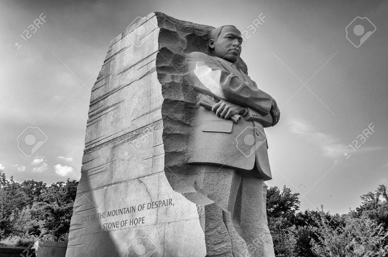 The Monument To Dr Martin Luther King Washington Dc Stock Photo