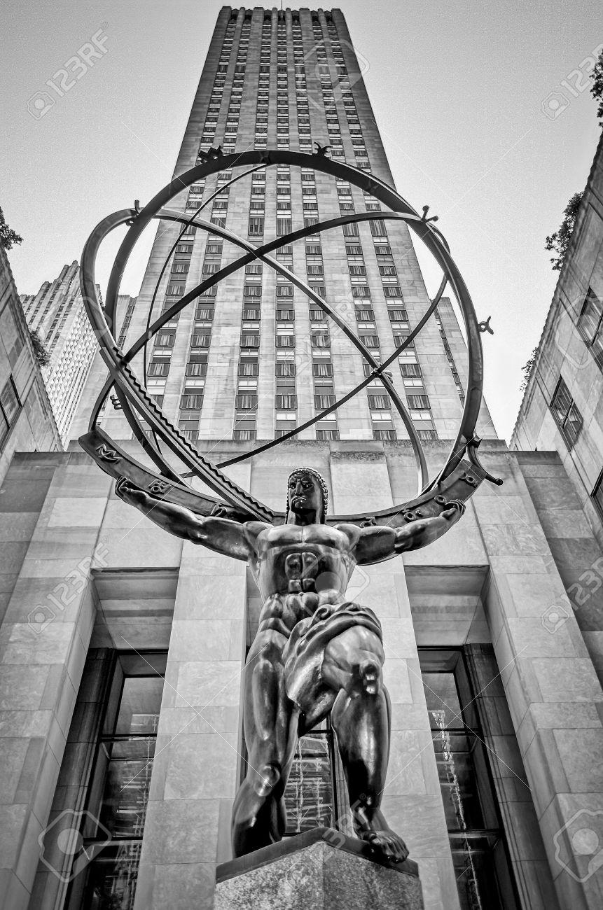 Atlas Statue dans le Rockefeller Center, New York Banque d'images - 21154993
